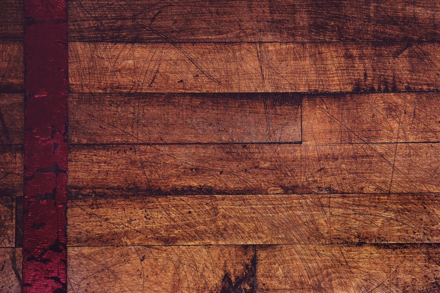 Scratches in wood
