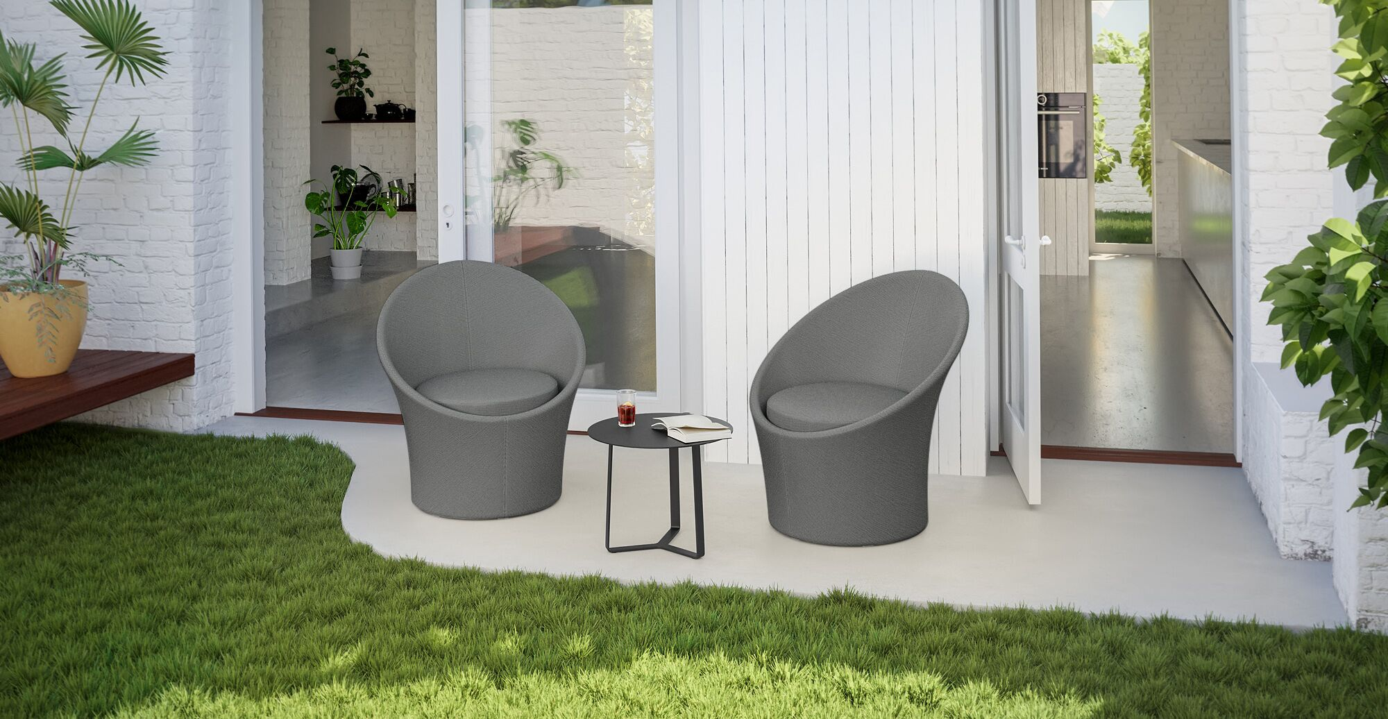 a water resistant outdoor patio set