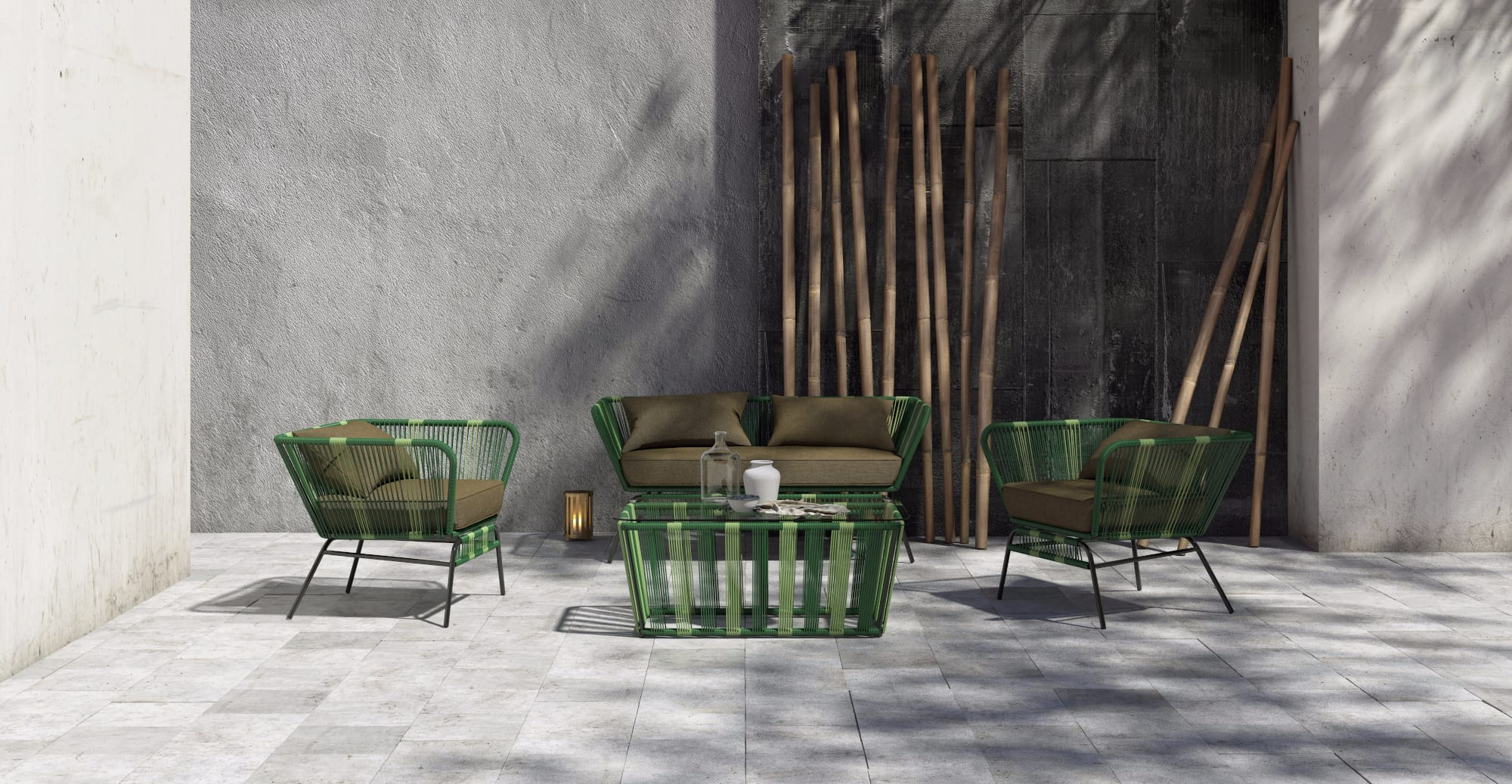 green modern outdoor furniture