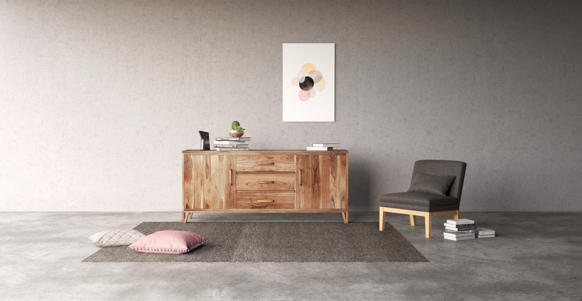 multiple textured grey furniture