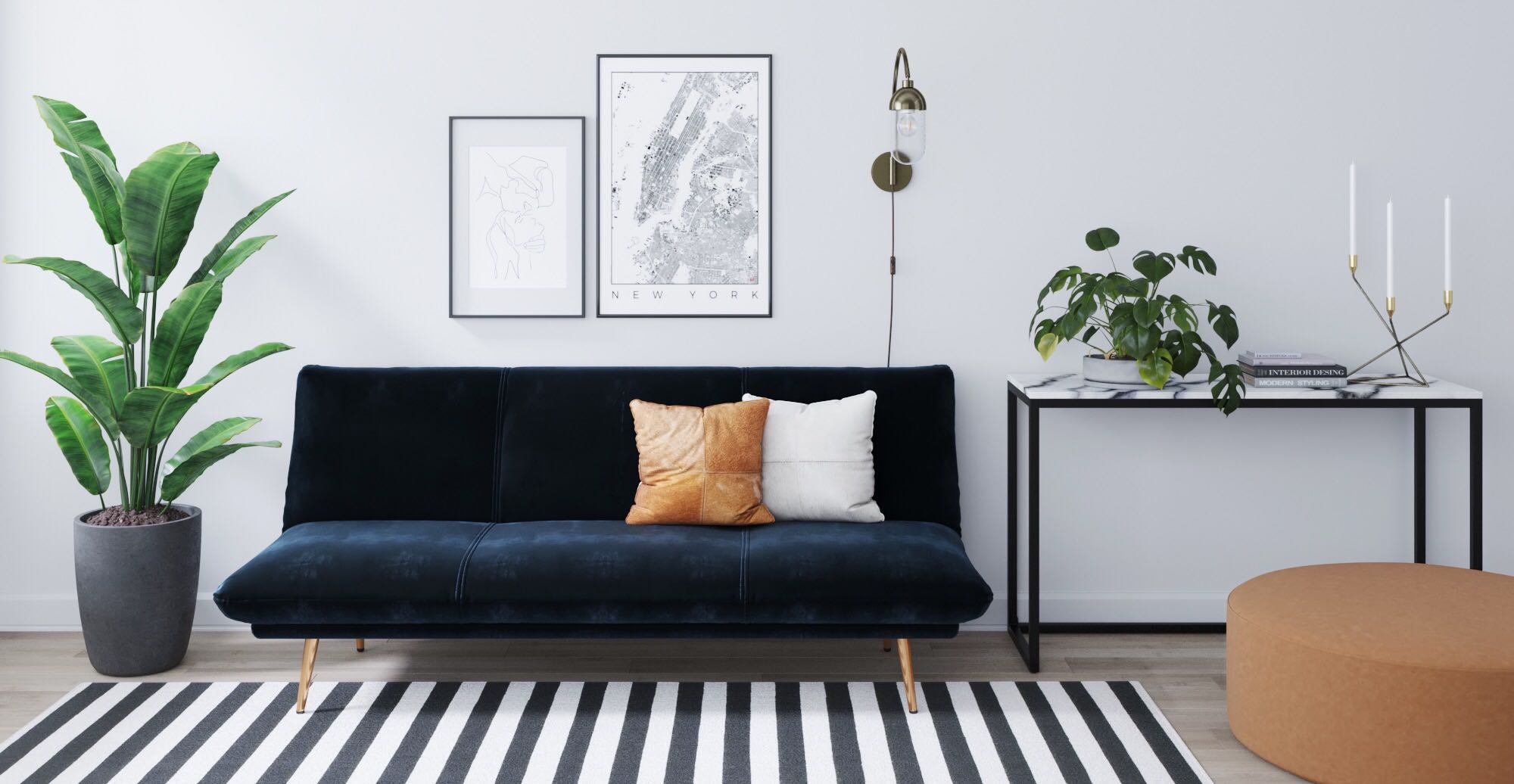 Brosa Lana Sofa Bed in Contemporary Styled Living Room