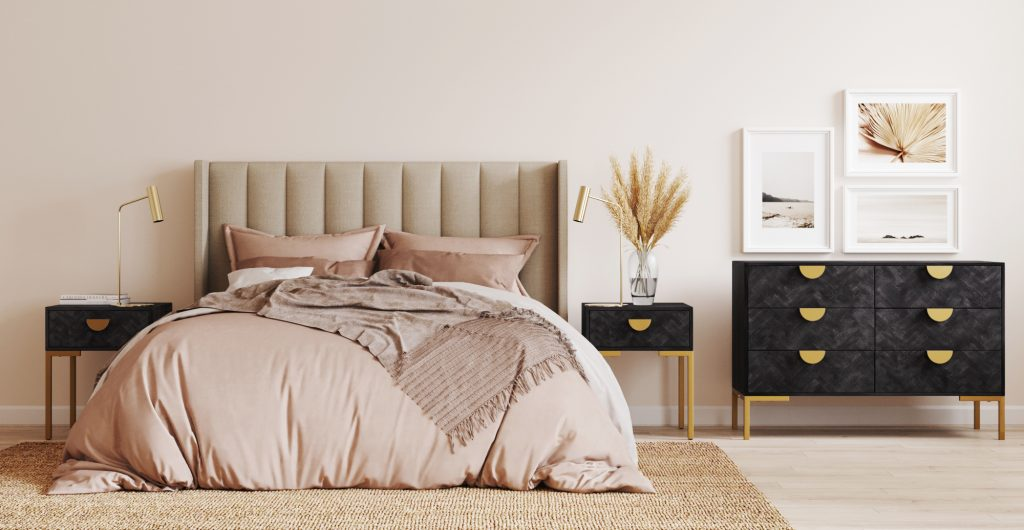 Brosa Isabelle Queen Size Bed Head in Modern Contemporary Style Bedroom