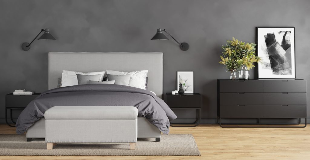 Brosa Sara Queen Gas Lift Bed Frame in Modern Contemporary Style Bedroom