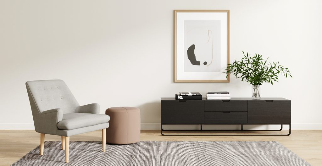 Brosa Slim Entertainment Unit in Modern Contemporary Style Living Room