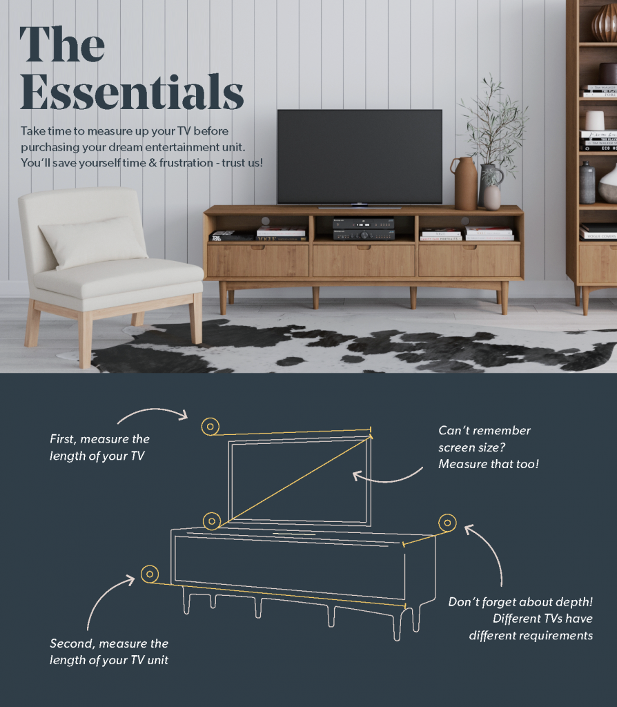 Brosa Tv Unit Guide on How to Measure your TV Unit & TV