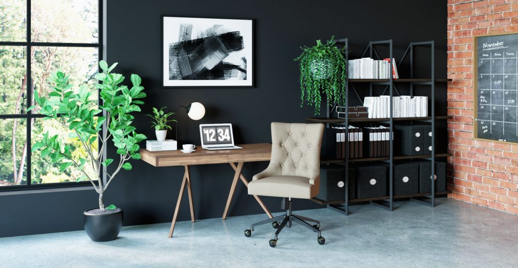 Brosa Lewes Office Desk in Contemporary Style Home Office