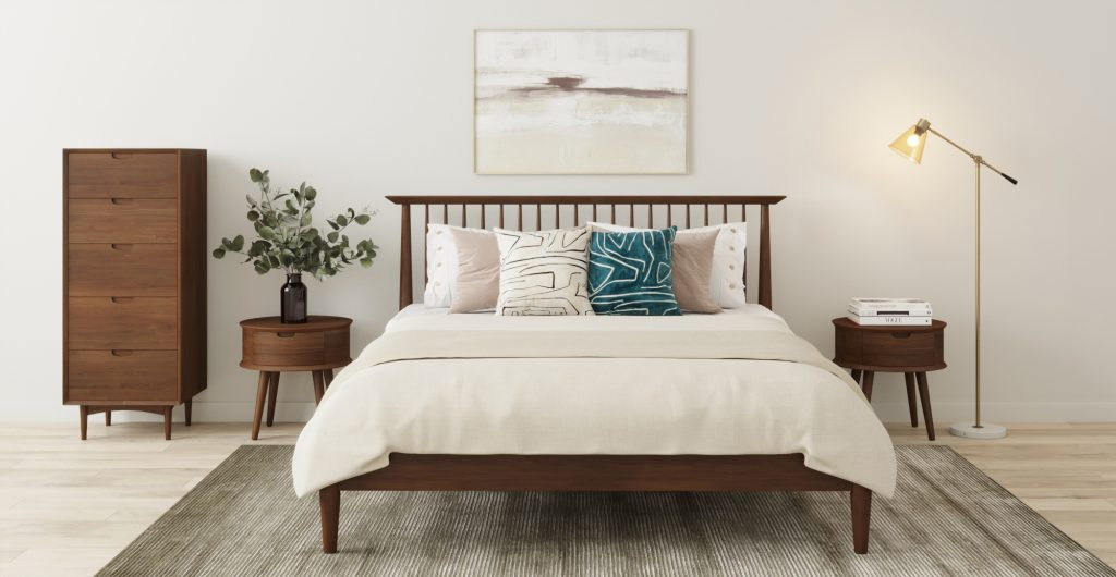 Brosa Ethan Bedroom Furniture Collection in Mid Century Modern Inspired Bedroom