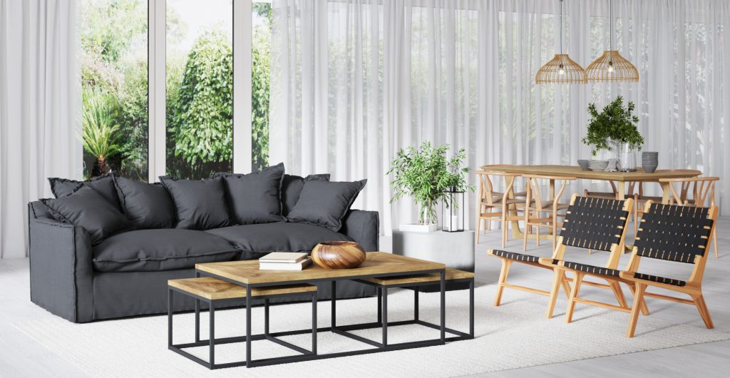 Brosa Palermo 3 Seater Sofa in Modern Contemporary Style living Room