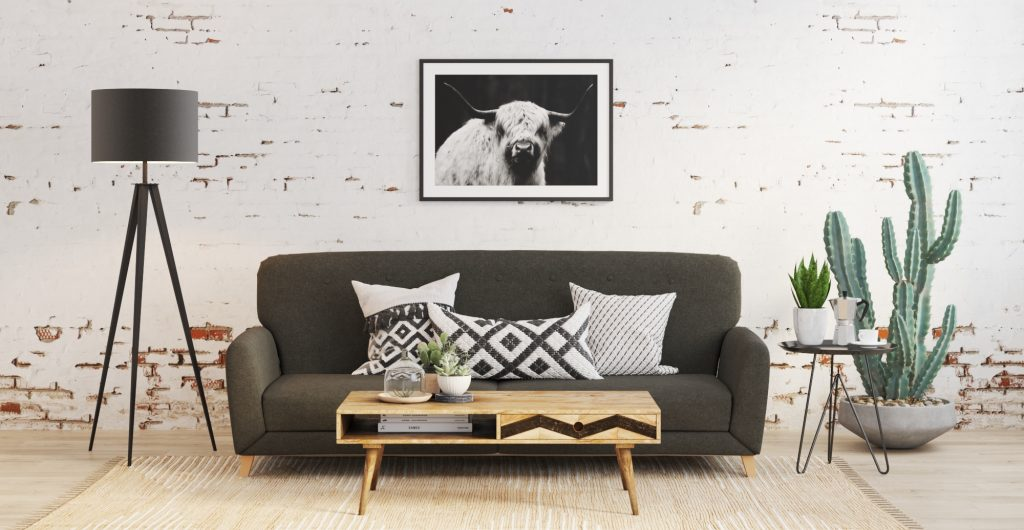 Brosa Clem 3 Seater Sofa Bed in Scandinavian Style Living Room
