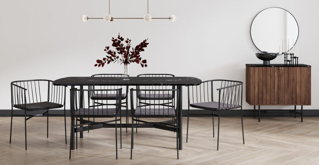 Brosa Memphis Collection in Modern Contemporary Styled Dining Room