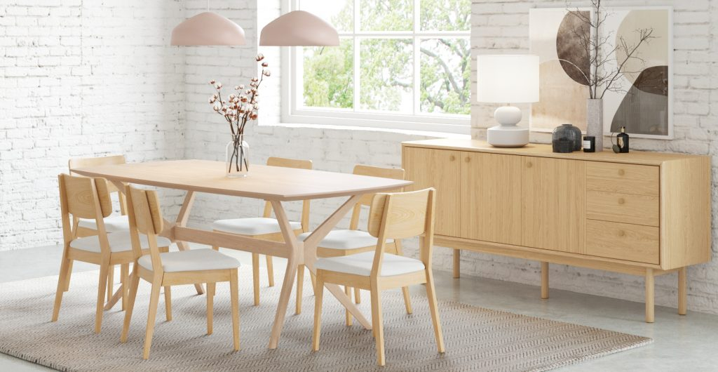 Brosa Olsen Dining Table In Scandinavian Style Dining Room