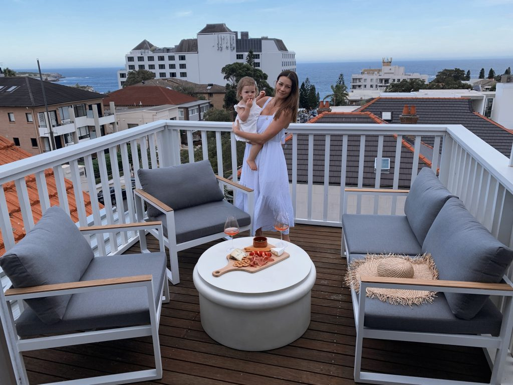 Brosa Outdoor Furniture Setting On Rooftop Featuring Lisa Hyde