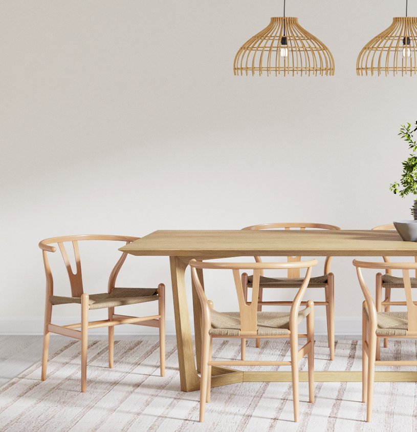 Brosa Koko Dining Chairs in Modern Coastal Style Dining Room