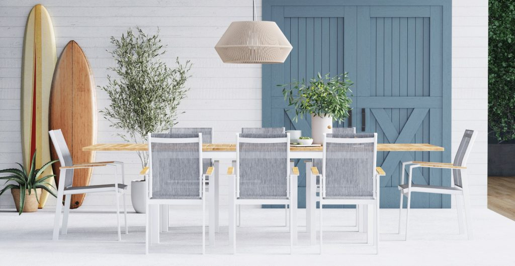 Brosa Malibu Extendable Outdoor Dining Table in Outdoor space