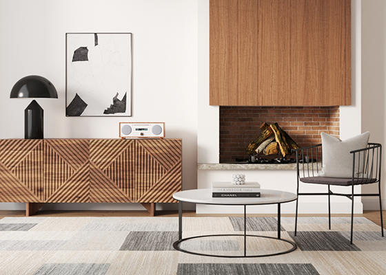 Brosa Marlon Collection in Mid-Century Modern Style Living Room