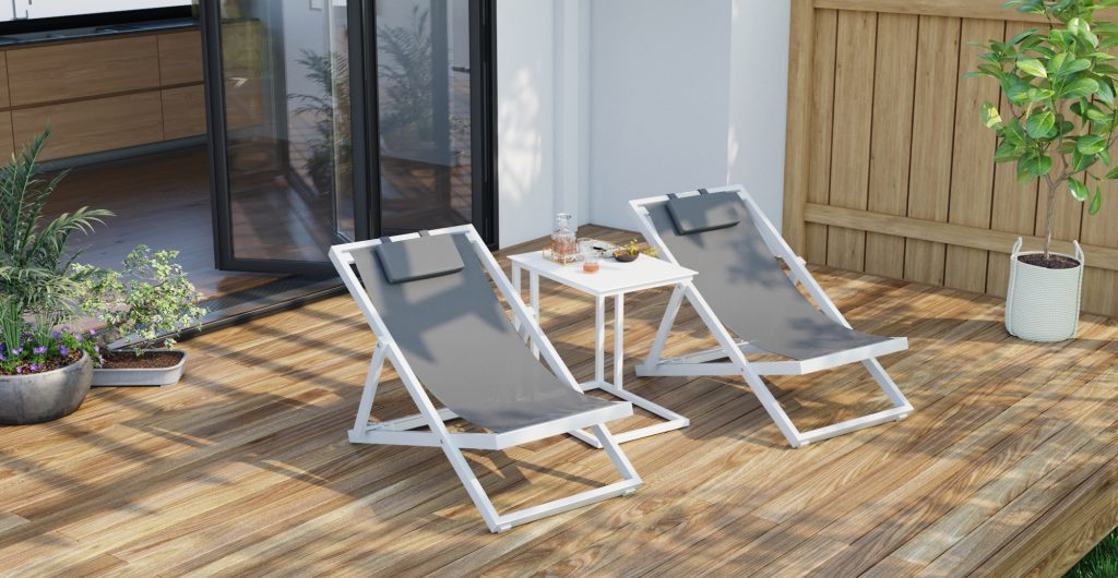 Brosa Solana Sun Lounger Patio Set on Outdoor Patio