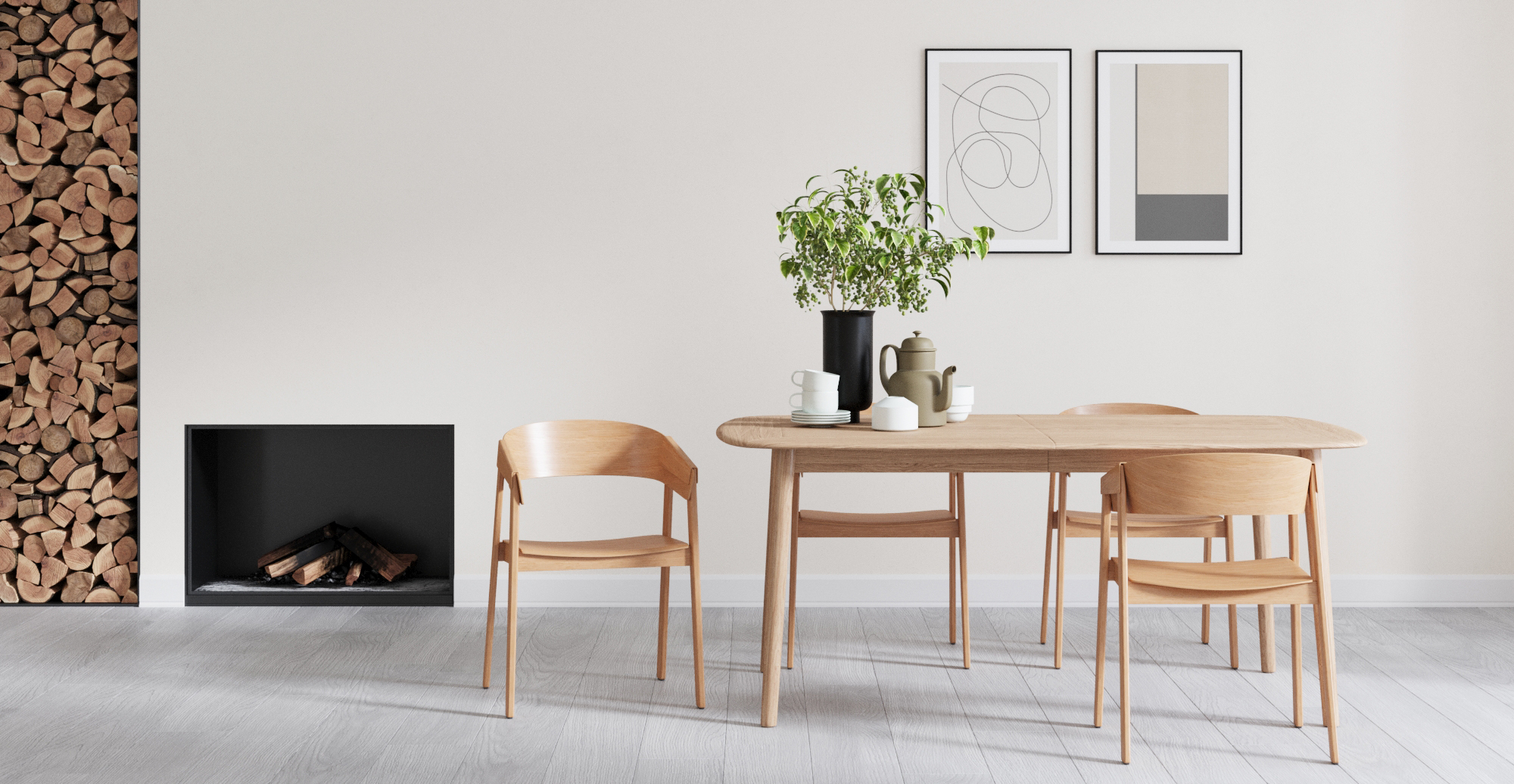 Brosa Drew Dining Chair in Scandinavian Style Dining Room